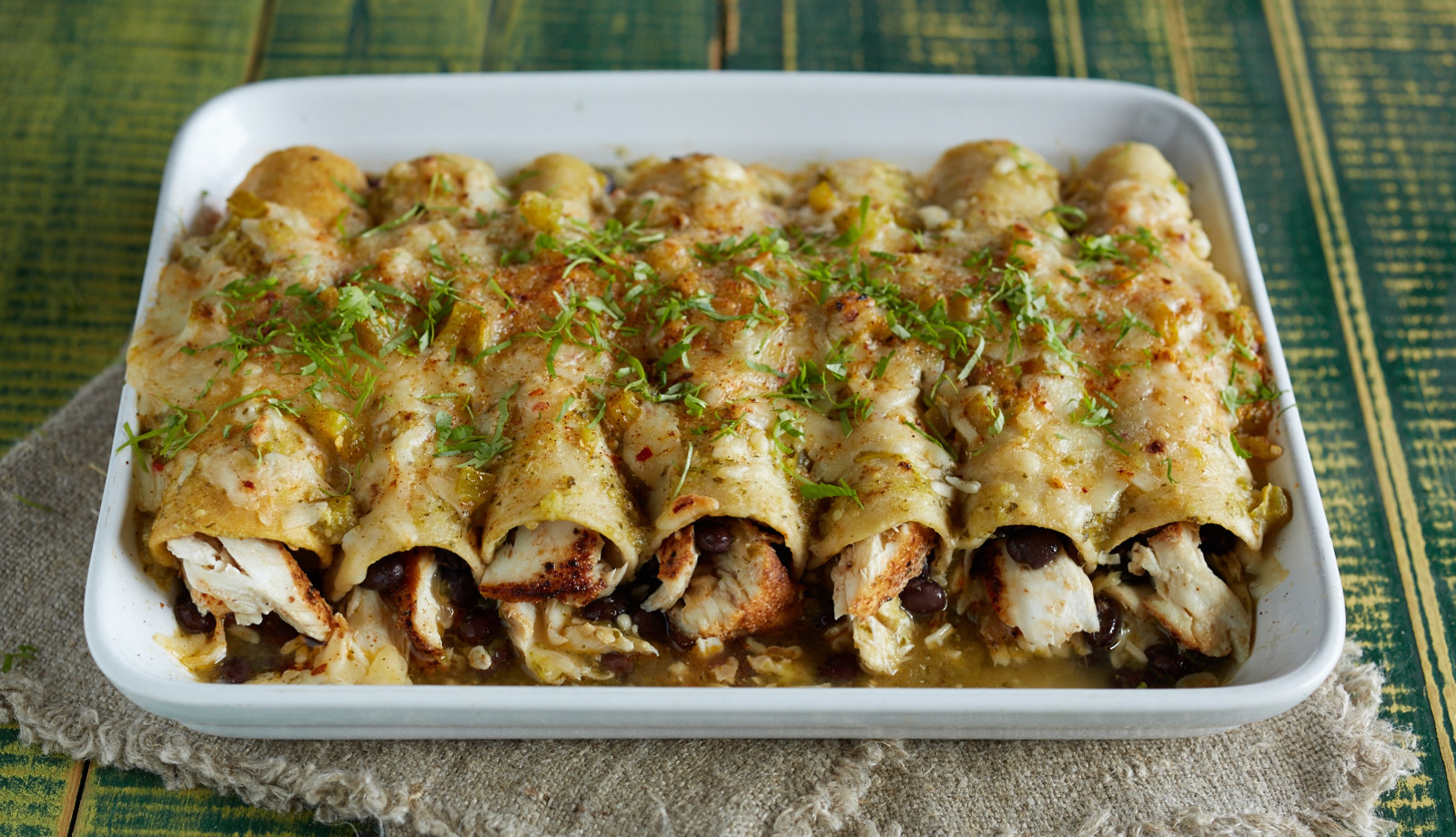 Alaska Halibut Enchiladas for Cinco de Mayo