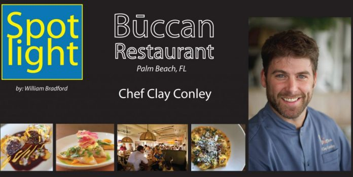 Chef Clay Conley, Būccan Restaurant, Palm Beach, FL